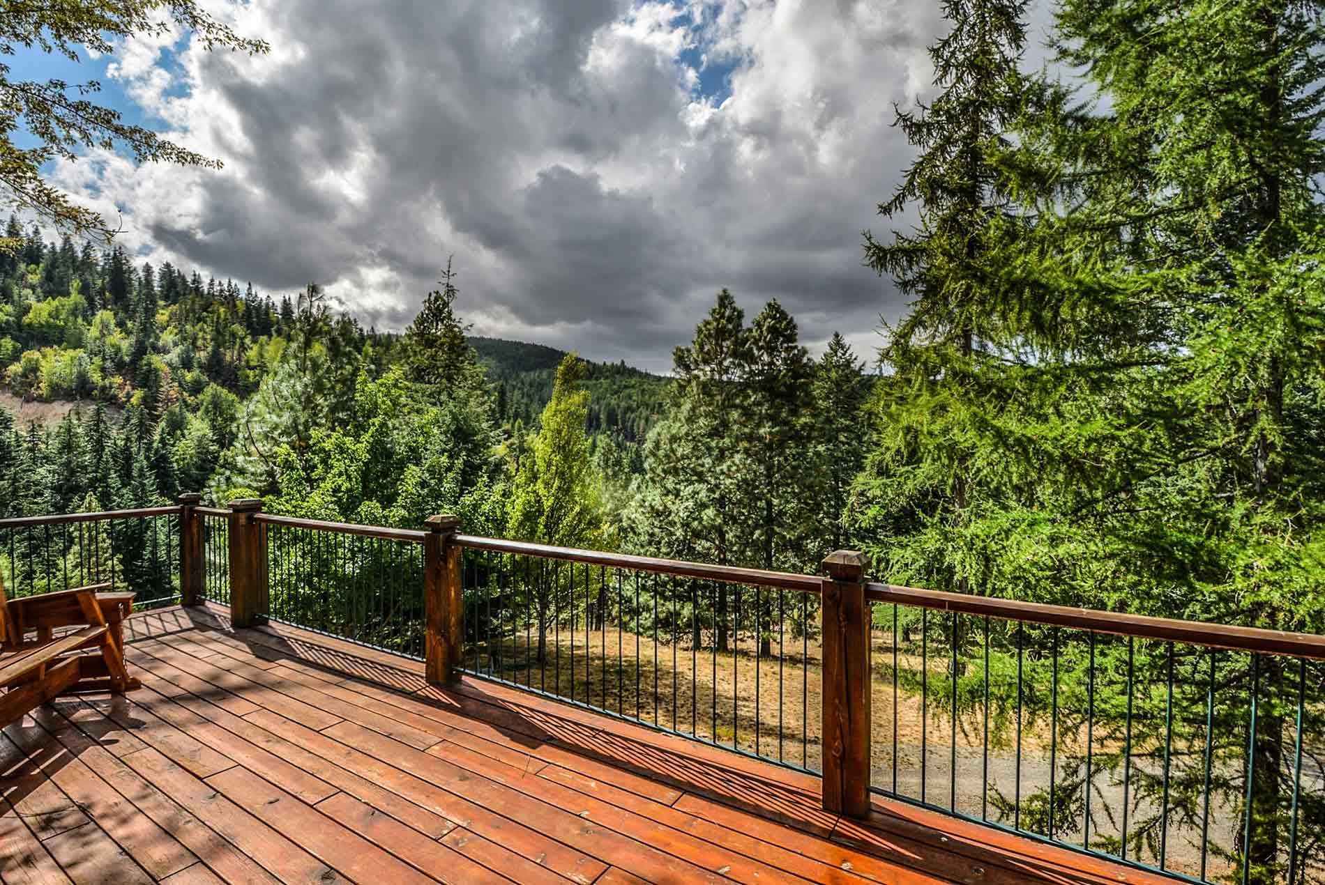 elevated deck with beautiful vista