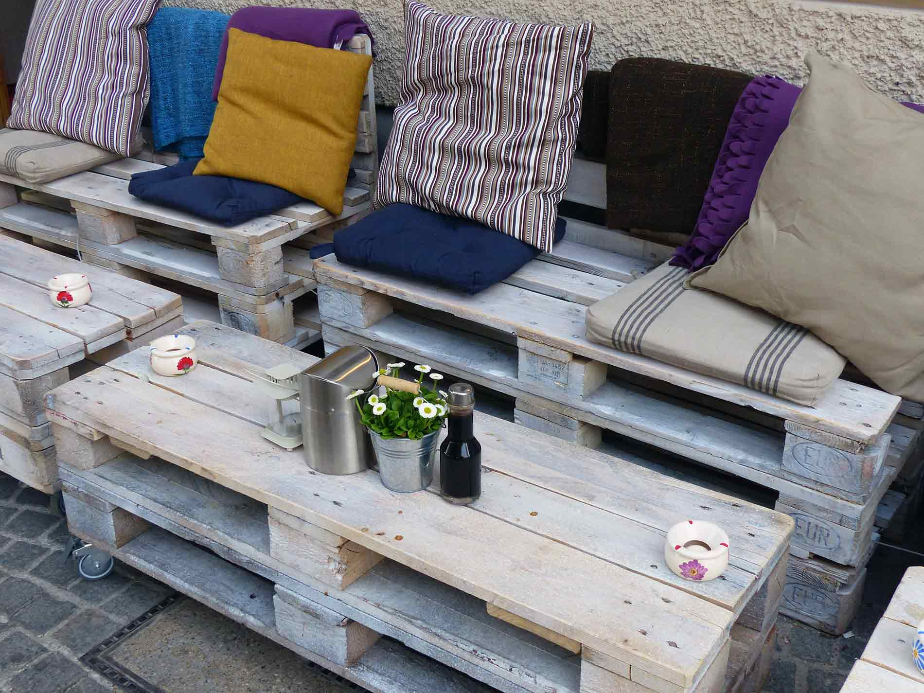 furniture on a patio
